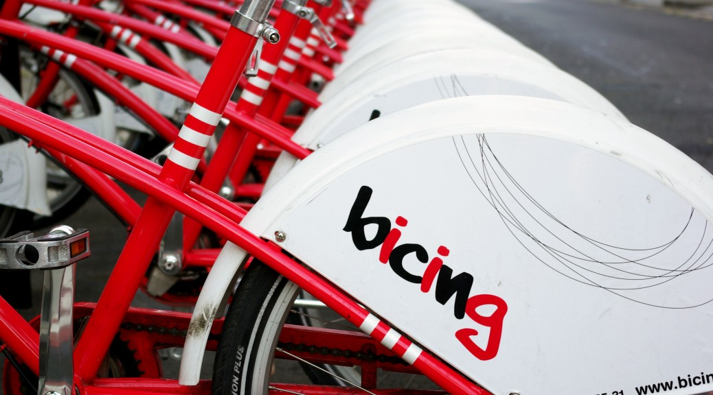 Bicing_on_Barcelona